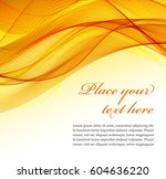 abstract orange wavy background | Shutterstock .eps vector #604636220