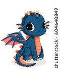 Cute Dark Blue Baby Dragon...