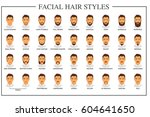 beard styles guide. facial hair ... | Shutterstock .eps vector #604641650