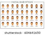 beard styles guide. facial hair ... | Shutterstock .eps vector #604641650
