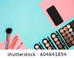 make up essentials. set of... | Shutterstock . vector #604641854