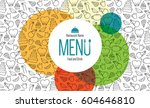 restaurant menu design. vector... | Shutterstock .eps vector #604646810