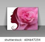 vector illustration of woman's... | Shutterstock .eps vector #604647254