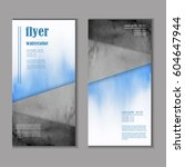 professional business flyer ...   Shutterstock .eps vector #604647944