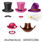 video chat effects assorted... | Shutterstock .eps vector #604651286