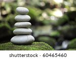 Stack Of Pebble Stones By A...