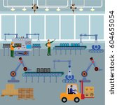 production process on the line... | Shutterstock .eps vector #604655054
