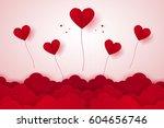 valentines day   illustration...   Shutterstock .eps vector #604656746