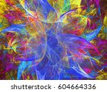 abstract fractal background 3d... | Shutterstock . vector #604664336