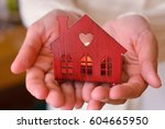 warm and cozy miniature house... | Shutterstock . vector #604665950