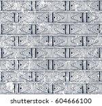 tribal seamless pattern.... | Shutterstock .eps vector #604666100
