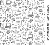 seamless pattern hand drawn... | Shutterstock .eps vector #604668608