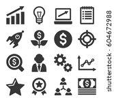 startup business icons set.... | Shutterstock .eps vector #604672988