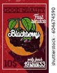 color vintage fruit banner | Shutterstock .eps vector #604674590