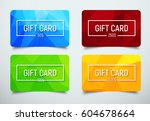 set of gift cards with a frame... | Shutterstock .eps vector #604678664