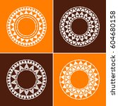tribal round frames collection... | Shutterstock .eps vector #604680158