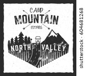 mountain camp poster. north... | Shutterstock .eps vector #604681268