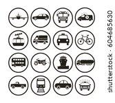 transportation icons | Shutterstock .eps vector #604685630
