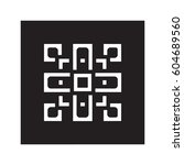 lace patterns  square lattice...   Shutterstock .eps vector #604689560