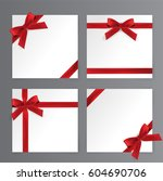 red bows  red ribbon vector | Shutterstock .eps vector #604690706