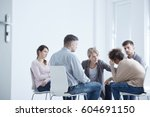 young people during... | Shutterstock . vector #604691150
