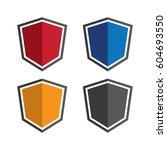shield logo design | Shutterstock .eps vector #604693550