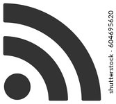rss vector icon. flat gray...