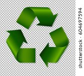 recycle sign with gradient mesh ... | Shutterstock .eps vector #604697594