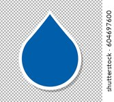 water drop label   vector... | Shutterstock .eps vector #604697600