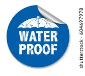 water proof sticker  vector... | Shutterstock .eps vector #604697978