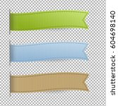 pastel web ribbons set | Shutterstock .eps vector #604698140