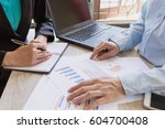business team meeting... | Shutterstock . vector #604700408