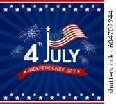 usa 4 july independence day...   Shutterstock .eps vector #604702244