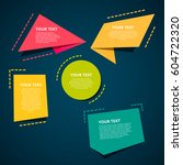 style text templates origami... | Shutterstock .eps vector #604722320