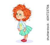 cartoon illustration of a very... | Shutterstock .eps vector #604723706
