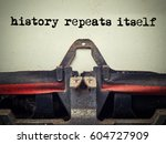 close up of old typewriter... | Shutterstock . vector #604727909