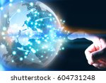 world connected.social network... | Shutterstock . vector #604731248