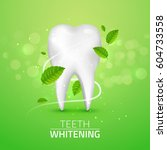 whitening tooth ads  with mint... | Shutterstock .eps vector #604733558