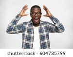 i can't believe this. amazed... | Shutterstock . vector #604735799