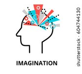 imagination icon  flat thin... | Shutterstock .eps vector #604744130