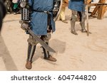 medieval fight of knights in... | Shutterstock . vector #604744820