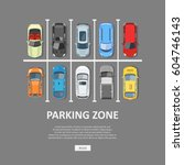 city car parking vector... | Shutterstock .eps vector #604746143