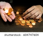 close up hand that counting... | Shutterstock . vector #604747604