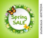 spring poster  | Shutterstock . vector #604750244