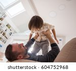 cheerful young boy having fun... | Shutterstock . vector #604752968
