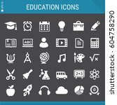 education icons collection | Shutterstock .eps vector #604758290