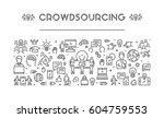 vector line web banner for... | Shutterstock .eps vector #604759553