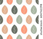 seamless nature vector pattern. ... | Shutterstock .eps vector #604762298