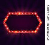shining retro billboard.... | Shutterstock .eps vector #604763099