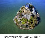 aerial view of the prison... | Shutterstock . vector #604764014